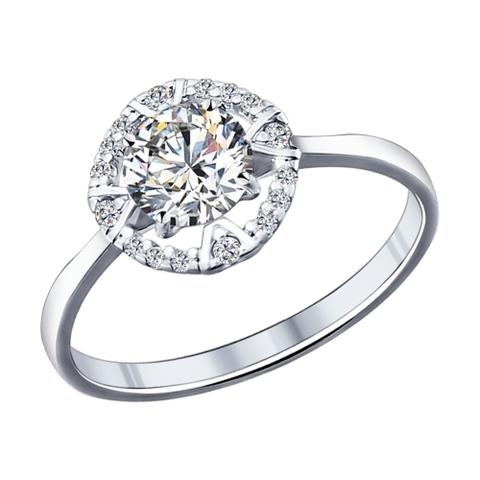 94011702- Кольцо из серебра с фианитами