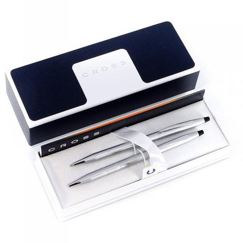 Набор подарочный Cross Century Classic - Trophy Satin Chrome, шариковая ручка + карандаш