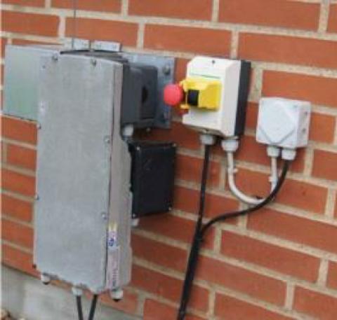 Электропривод для поднятия вентиляционных штор и панелей с ручным управлением