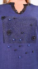 Таіс. Сукня для жінок плюс сайз. Синій.