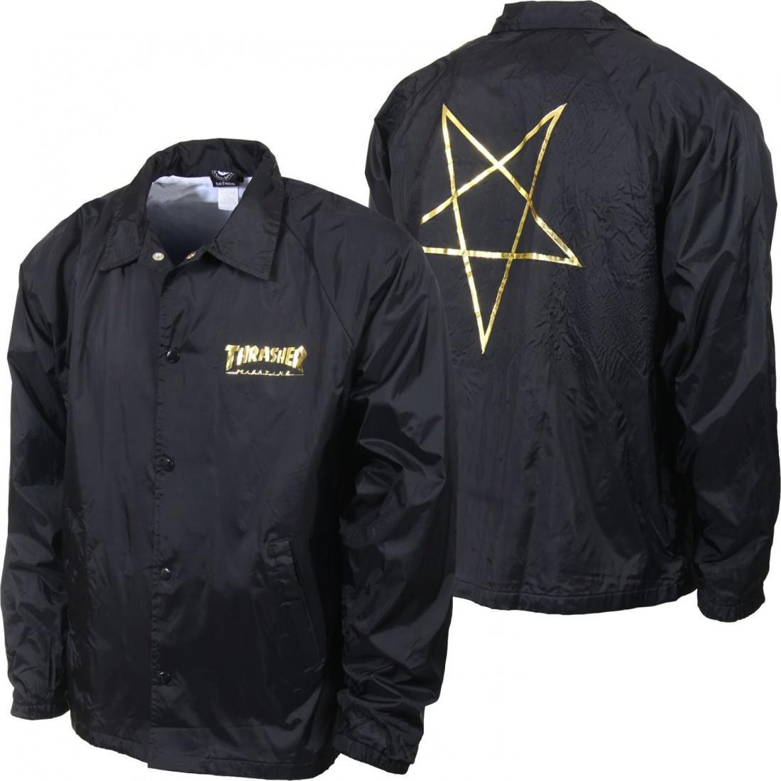 Куртка THRASHER Pentagram Coach Black