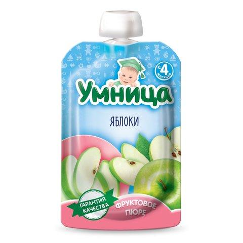 Пюре Умница, яблоко, 100 г. (4+ мес.)
