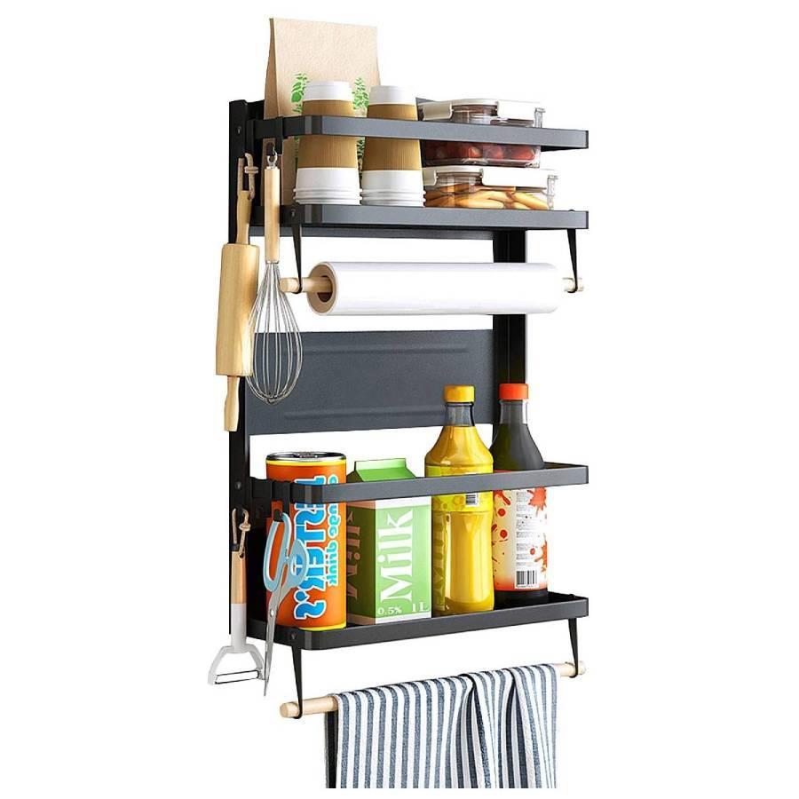 Кухонные принадлежности и аксессуары Кухонная стойка-органайзер магнитный на холодильник kuhonnaya-stoyka-organayzer-magnitnyy-na-holodilnik__1_.jpg