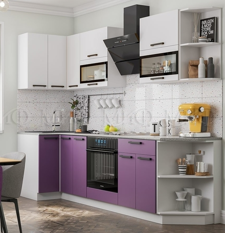 Кухня Угловая Техно NEW 0,9-2,7 м №5
