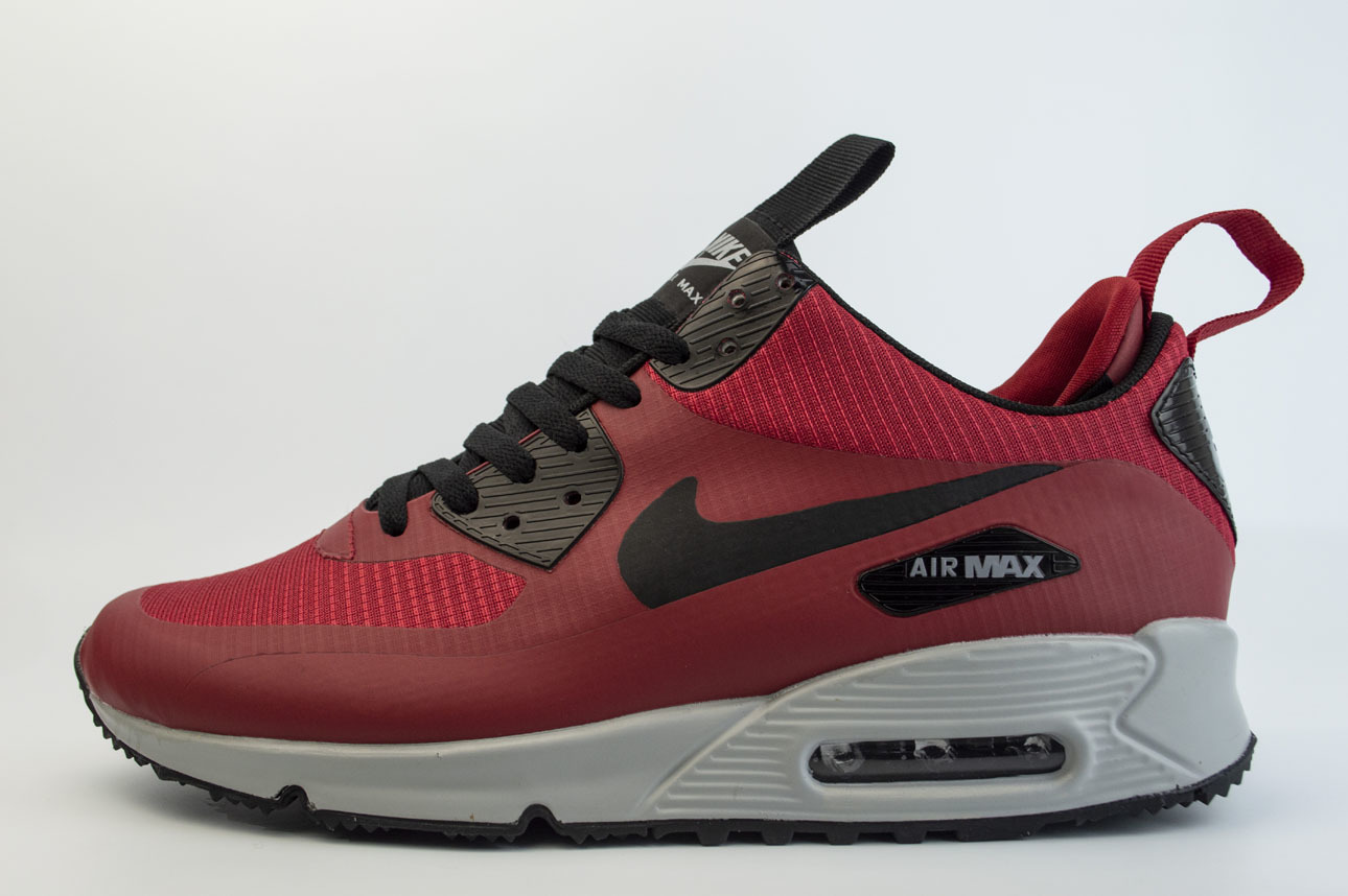кроссовки Nike Air Max 90 Mid Winter Red / Grey