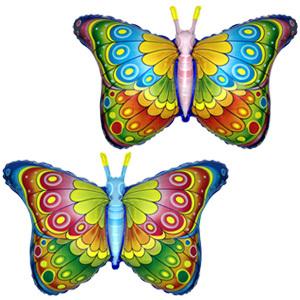 Фольгированный шар Бабочка радужная 56 X 97см
