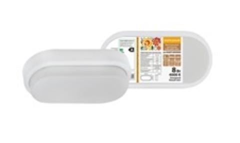 Светодиодный светильник LED ДПП 2801 8Вт 700 лм 4000К IP65 белый овал 200*100*46 мм Народный