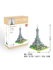 Конструктор Wisehawk & LNO Эйфелева башня small 193 детали NO. 3280 Eiffel Tower small Gift Series