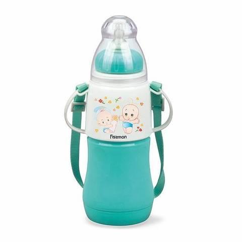 Бутылочка для кормления 230мл Ментоловая (пластик)