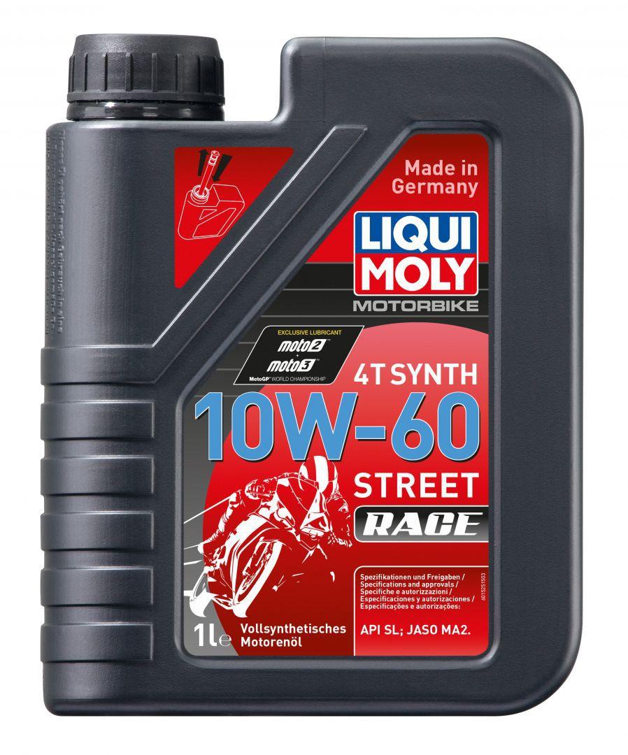 Liqui Moly Motorbike 4T Synth Street Race 10W60 Синтетическое моторное масло для 4 тактных мотоциклов