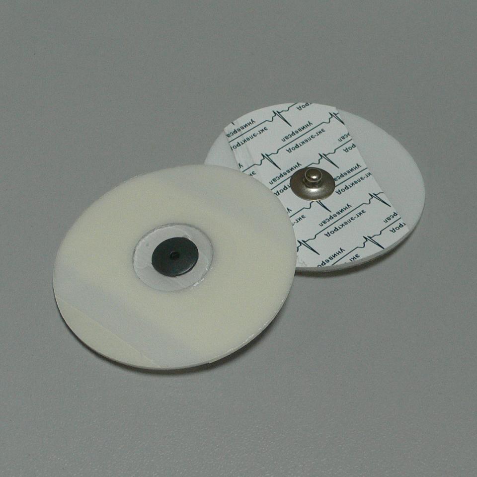 Электрод ЭКГ 55мм, одноразовый, универсал, Россия (7.0 руб/шт)