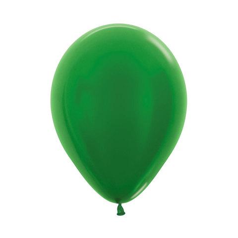 Латексный воздушный шар, цвет зеленый металлик