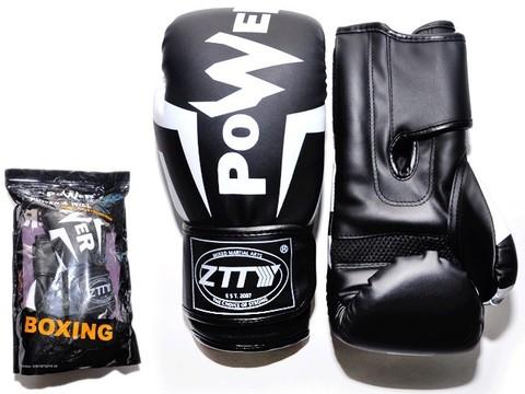 Перчатки боксёрские 6 oz: Q116 ЧБ-6