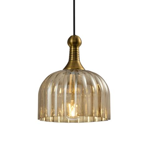 Подвесной светильник Escada 1154/1S E27*60W Antique bronze/Amber
