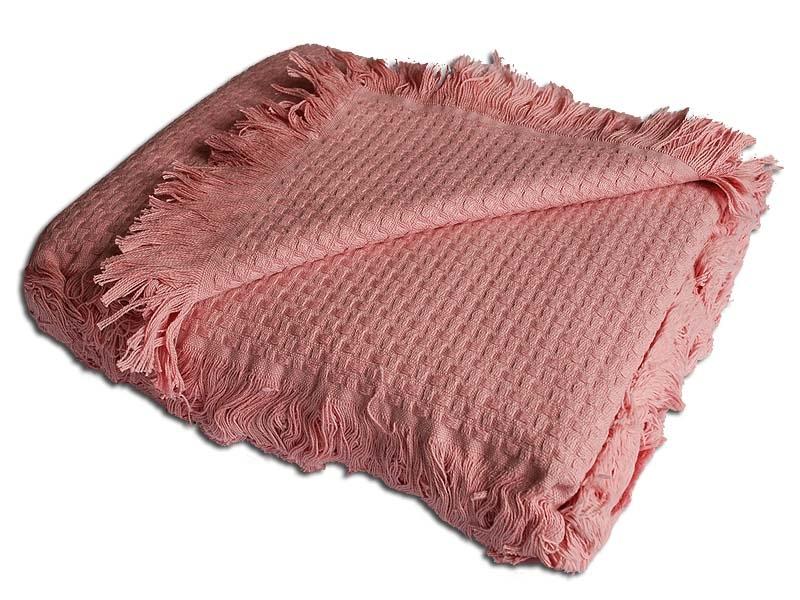 Покрывала Плед вязаный хлопковый  Design  темно-розовый  Buddemeyer Бразилия темно-розов.jpg