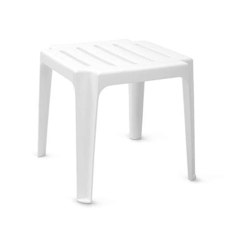 Столик к шезлонгу белый 44х44х43