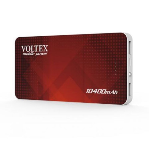 Power Bank Voltex VPBF-240.21 2xUSB 10400mAh soft touch red