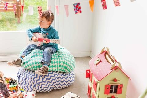 Коврик-мешок для игрушек Play&Go. Коллекция Print. Зелёный бриллиант
