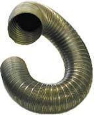 Полужесткий воздуховод из нержавеющей стали ф125 (2м)