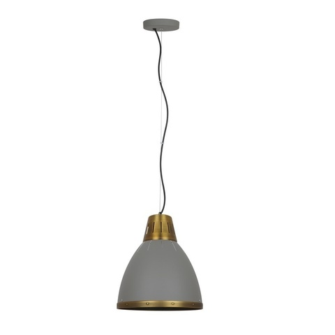 Подвесной светильник CAMELION Loft PL-426M C65 серый + бронза