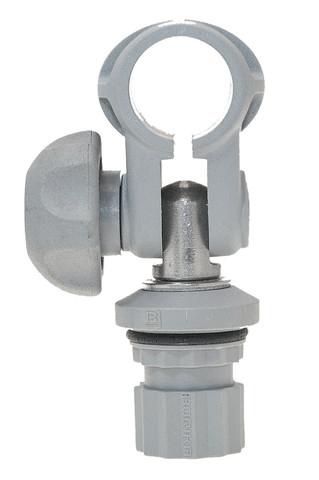 Хомут с адаптером Tc022 для трубы Ø 22 мм, серый