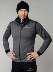 Элитный лыжный жилет Nordski Pro Graphite-Black