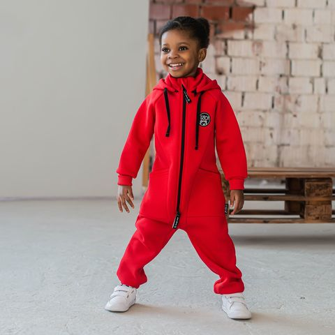 Transformer jumpsuit with flap - Chili