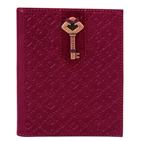 Обложка на паспорт «Ключ». Цвет фуксия