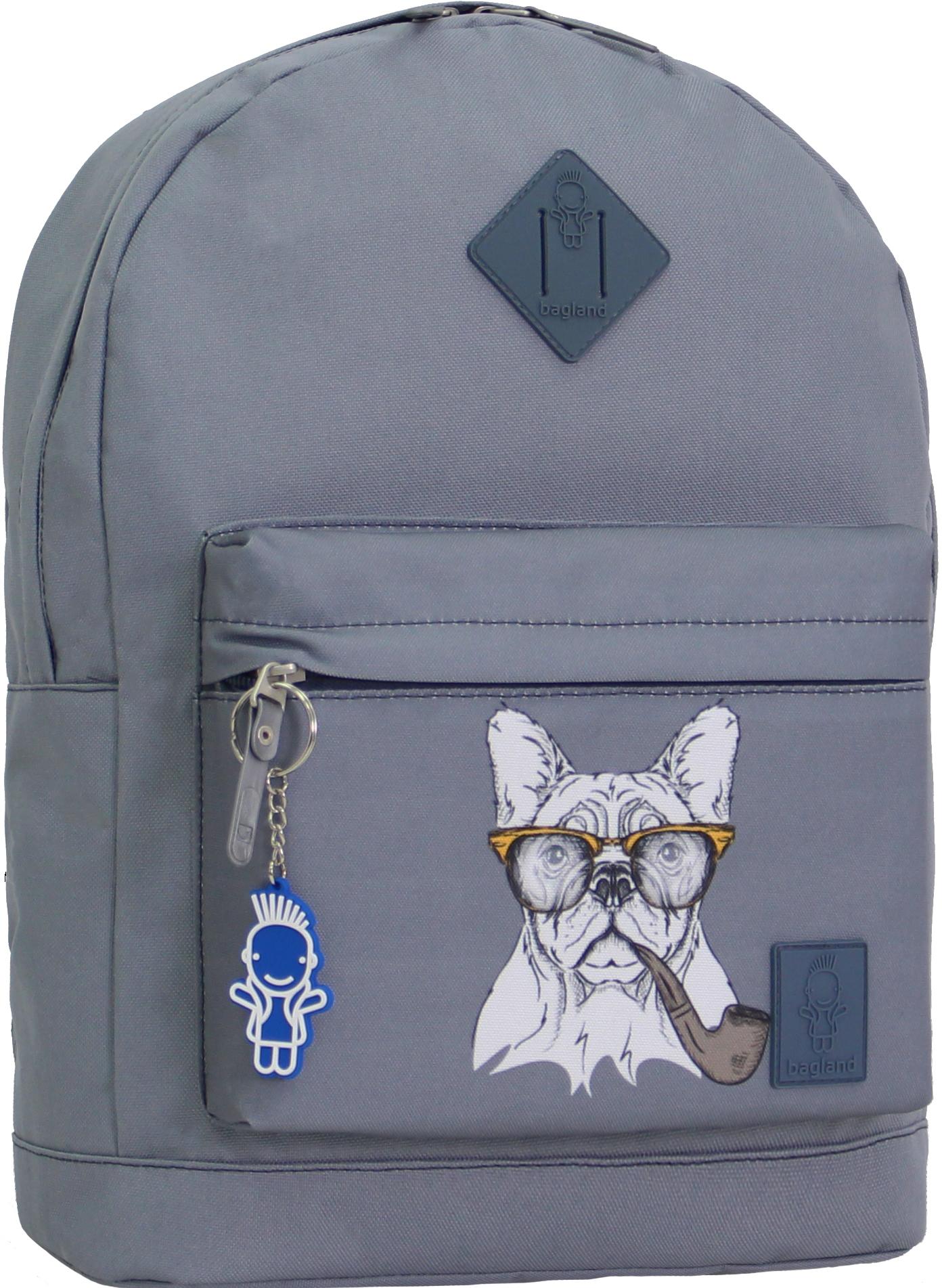 Городские рюкзаки Рюкзак Bagland Молодежный W/R 17 л. серый 194к (00533662) IMG_0996_194к.JPG
