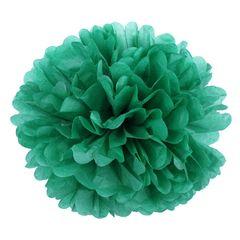 Помпон из бумаги 40 см зеленый