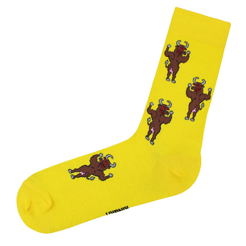 Носки Бык желтый