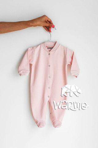 Набір дитячих сліпів (чоловічків) на довгий рукав Warmo™ (Кораловий, Світло-рожевий, М'ятний)