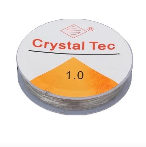Спандекс резинка 1,0 мм - силиконовая нить - прозрачный
