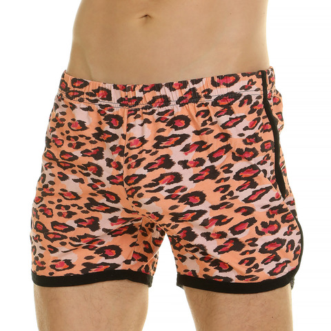 Мужские шорты домашние оранжевые леопардовые Van Baam 44780