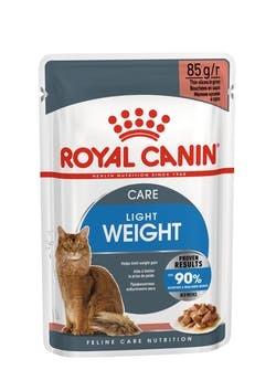 Royal Canin Пауч для кошек склонных к полноте, Royal Canin Ultra Light, в возрасте от 1 года до 7 лет, в соусе light-gravy-packshot-pouch-b1n.jpg