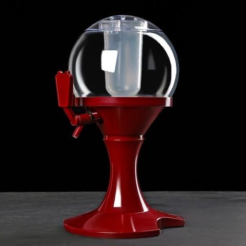Башня пивная 3 л «Сфера», красная