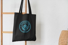 Сумка-шоппер с принтом FC Manchester City (ФК Манчестер Сити) черная 005