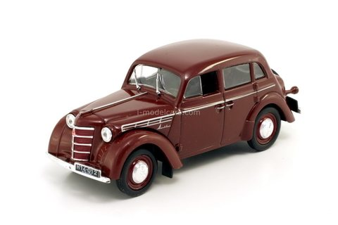 Moskvich-400 (Moszkvics) dark red 1:43 DeAgostini Kultowe Auta PRL-u #37
