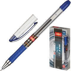 Ручка гелевая Unimax Max Gel синяя (толщина линии 0.3 мм)