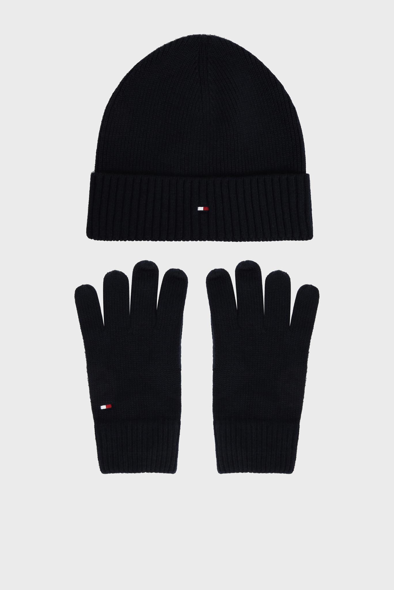 Мужской комплект аксессуаров (шапка, перчатки) PIMA COTTON Tommy Hilfiger