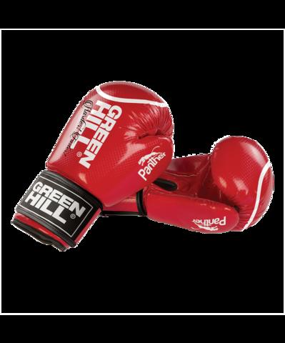Перчатки боксерские Panther BGP-2098, Green Hill красные