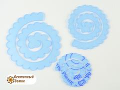 Шаблон № 500 цветы по спирали