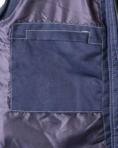 Жилет Синий с васильковым тк. Смесовая