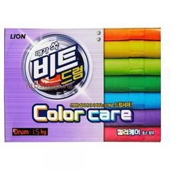 Концентрированный стиральный порошок Lion Beat Drum Color Care для автоматической стирки для цветного белья 1,5 кг