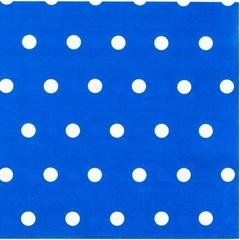 Салфетка Горошек синяя