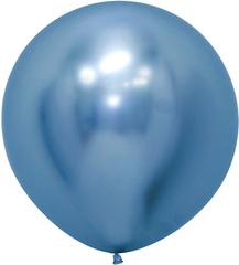 S 24''/61см, Зеркальные шары, Хром, Рефлекс Синий (940).