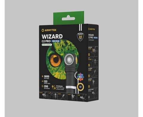 Налобный фонарь Armytek Wizard C2 Pro Nichia Magnet USB (теплый свет) F06801W