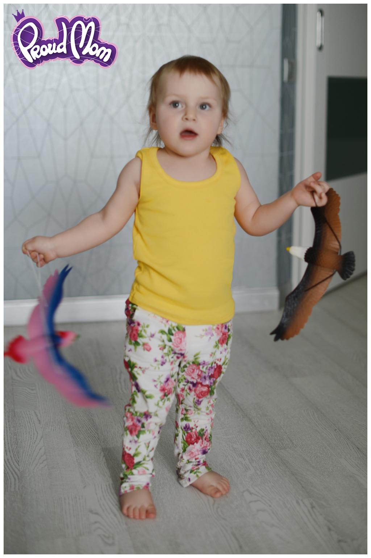 Детская маечка Легкость бытия желтая - Фото 4