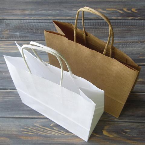 Крафт-пакет с кручеными ручками (18*20см, дно 8см)