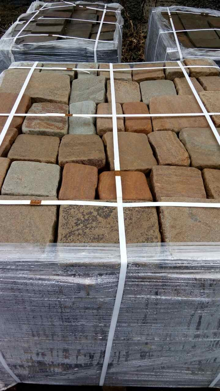 Набор Брусчатки песчаник колото-галтованный Ясень на поддоне